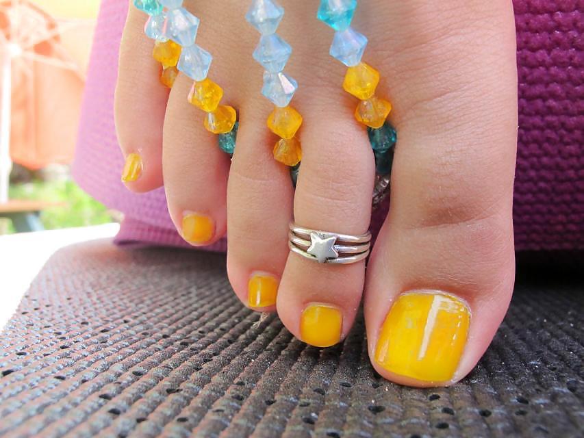 Dedos lindos de mujer